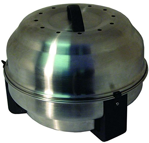 Olpro Safire Portable Charcoal Barbecue And Roaster - Silver, 26.5 cm by OLPro by OLPro