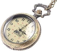 81stgeneration Men's Women's Analogue Mechanical Victorian Style Pocket Watch Brass Pendant Necklace, 78 cm
