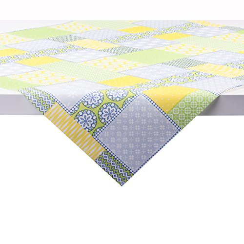 Sovie Home Tischdecke Selina | Linclass® Airlaid 80x80 cm | schöne Tischdeko Frühling Sommer | Gelb-Grün