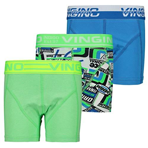 Vingino Original B-194 Jungen Boxershorts 3 Pack neon Green (XS-110/116)