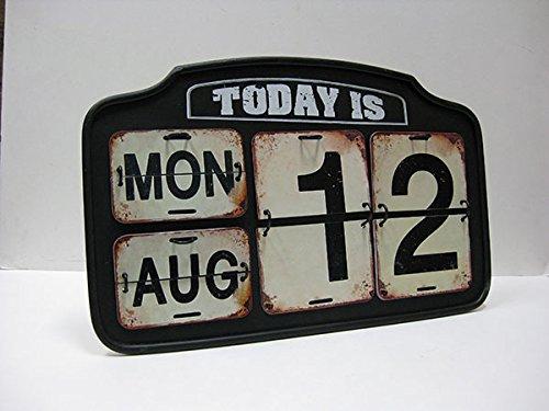 【DOULTON】ダルトン ガレージ カレンダー アイアンカレンダー スタンドカレンダー 日めくりカレンダー カレンダー ビンテージ アメリカン雑貨 アメリカ雑貨 アンティーク