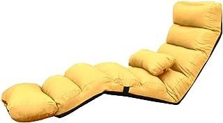 Lit pliant Petite Chaise Pliante Simple De Chambre À Coucher Facile À Démonter Et À Laver Inclinable De Plancher Pliant In...