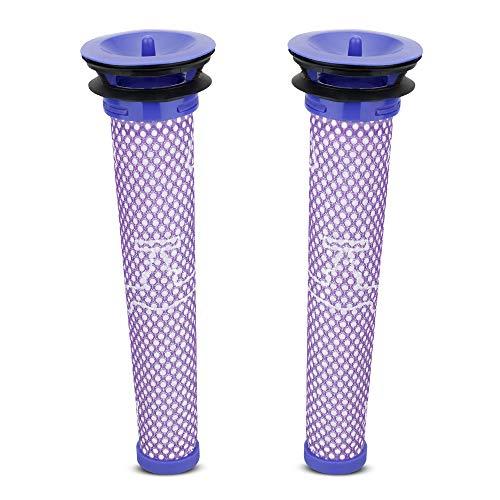 Ersetzt Filter für Dyson 2 Stück, Komake Ersatzfilter Vorfilter Zubehör Kompatibel mit Dyson DC58 DC59 DC61 DC62 DC74 V6 V7 V8 Staubsauger, Waschbar Pre Motor Stick Filter Zubehör