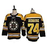 Yajun Jake Debrusk#74 Boston Bruins Camisetas Hockey Jersey sobre Hielo NHL Hombre Ropa Respirable T-Shirt de Manga Larga,XL