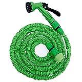 EYEPOWER Hochwertiger Gartenschlauch Flexibler Wasserschlauch Schlauch 2,5m-7m inkl 7fach Multifunktions Sprühkopf Grün