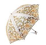 Dentelle Fleur Parapluie pour La Mariée Double Couche Pliant De Mariage Parapluie Pluie Femmes Voyage Compact Portable Parapluie A2