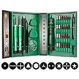 Smraza 38 en 1 Juego Destornilladores de Precision Magnético Kit Herramientas Pinzas Pry Ventosa para iphone, iPad, Tabletas, Laptop, PC, Teléfonos Móviles y Otros Dispositivos Electrónicos