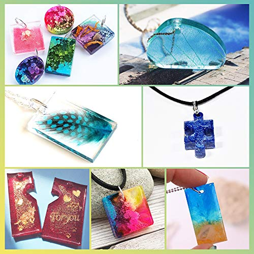 LET'S RESIN Resin Jewelry Molds, 16 Pcs Silicone Jewelry Molds for Epoxy Resin, UV Resin, Resin Casting Molds for Jewelry Making Including Pendant, Bracelet, Earring, Diamond Molds