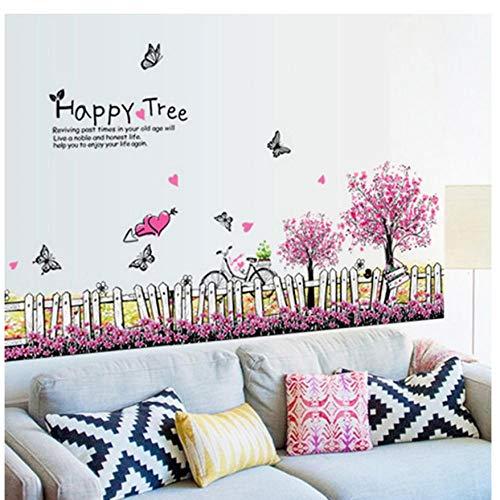 MINGKK - Adhesivo decorativo para pared, diseño de mariposa, color morado
