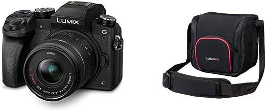 Panasonic LUMIX G DMC-G70KAEGK Systemkamera (16 Megapixel, OLED-Sucher, 7,5 cm OLED Touchscreen) mit Objektiv H-FS14042E schwarz & LUMIX DMW-PGH68XEK Systemtasche, schwarz
