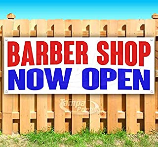 New Flag, Barbershop 13 oz Heavy Duty Vinyl Banner Sign with Metal Grommets Store Advertising Many Sizes Available