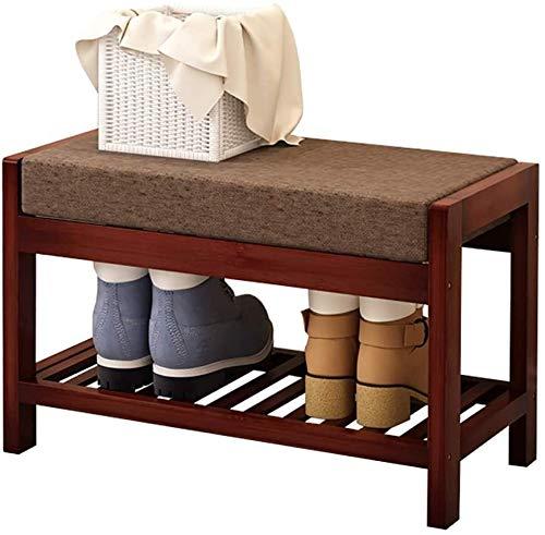 Wddwarmhome Zapato de bambú Zapato de Zapatos Banco Zapato Rack Simple Bambú Madera Sofá Sofá Rack de Almacenamiento, Tamaño Puede Elegir (Color : B, Size : 70 * 33 * 40cm)