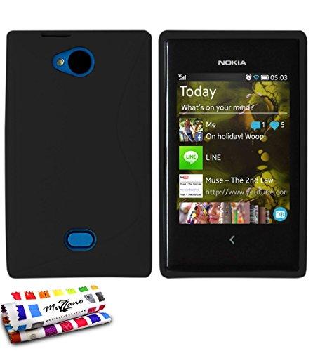 MUZZANO Protezione Ultra Sottile Nokia Asha 503 Protezione Antiurto Ultime, Protezione Anti-Urto Elegante e duratura per Il Vostro Nokia Asha 503