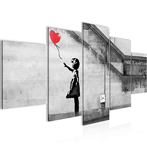 decoración de la pared Tabla Banksy Muchacha con la bola - 150...