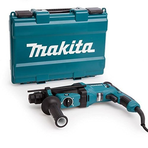 Makita HR2630 230V SDS Plus 26mm Rotary hamer, 800 W, 240 V, blauw, zilver