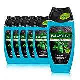 Palmolive Men Duschgel Revitalising Sport 6 x 250ml - 3in1 für Körper, Gesicht & Haar - mit...