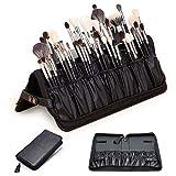 Rownyeon Makeup Brush Bag Organizer Foldable Makeup Brush Artist Case Travel Brush Holder Portable Zipper Professional Handbag for Travel Home Gift(Brush NOT Included)