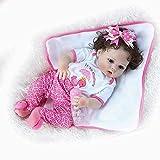Reborn Baby Dolls Vinilo de Silicona Suave 22 '56cm Realista Baby Doll Juguete de baño Pinky Hecho a...