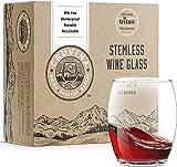 Cruvina 4 bicchieri da vino trasparenti senza stelo, infrangibili, in plastica, 394 g