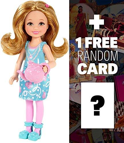 Tea Party: Barbie Sisters Chelsea and Friends Doll ~ Figura de muñeca de 5.5 pulgadas + 1 paquete oficial de tarjeta de Barbie