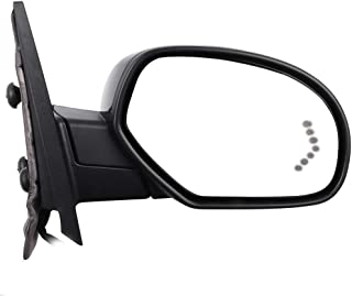 AUTOMUTO Black Rear-vision Mirror Left Side View Mirror Power Folding Power Heated Turn Signal Memory Fit Compatible With 2007-2013 Chevy Silverado GMC Sierra 1500 2500 HD 15150849 955-305
