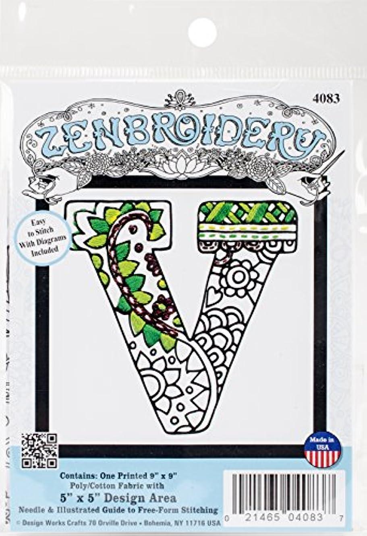Design Works Crafts Inc. 4083 Design Works Zenbroidery, Letter V, 5