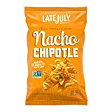 LATE JULY Snacks Clásico Nacho Chipotle Tortilla Chips, 5.5 oz. Bag (Pack of 12)