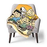 Hdadwy Peanuts.Snoopy Babydecke oder flauschige Decke für Kinder Unisex-Decke für Kinderbett Couch Stuhl Wohnzimmer Reisen Superweiche warme KinderdeckeEine Größe
