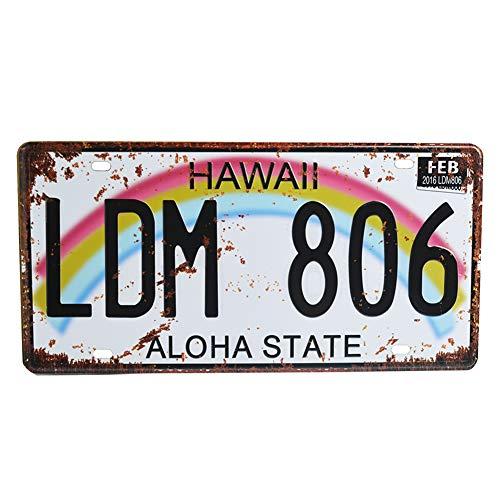 Retro Vintage U.S. State Auto Number Tags, Embossed Metal License...