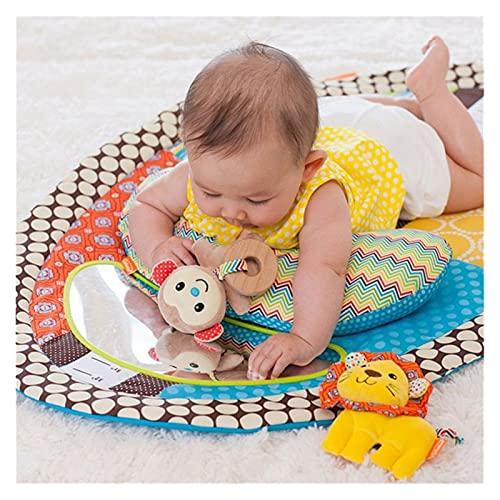 MUJER MUSMUMA MUSUMA MAT Newborn Baby Play Mat con una almohada de peluche Safe Baby Mirror Juguetes para recién nacidos Cambiar almohadilla Altura Medir Gráfico Fácil de limpiar Baby Gym Floor Mat Ac