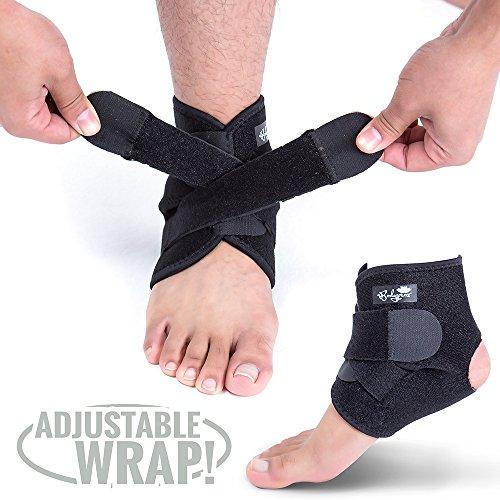 Bodyprox Dispositivos ortopédicos de soporte para el tobillo, manga de neopreno transpirable, envoltura ajustable!