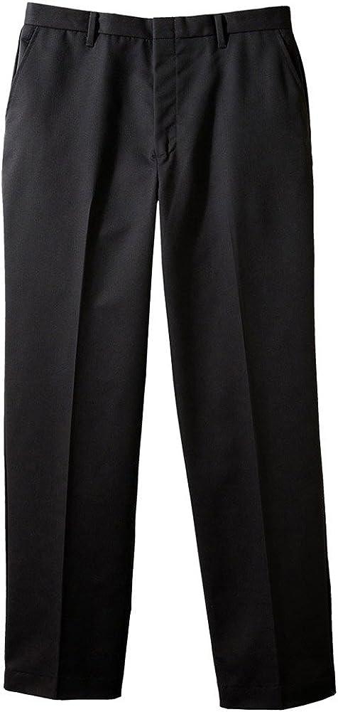 Edwards Men's Business Casual Flat Front Pant, Black, 32