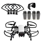 O'woda 3 in 1 Accessories Kits for DJI Spark: 1 Set Propeller Guard with Foldable Landing Gear + Camera Lens Sunhood + Propellers