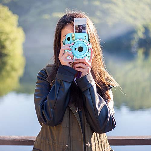 Sofortbildkameras Kamerazubehör Kompatibel mit Instax Mini 11 Sofortbildkameras enthalten Tasche /1 Gurt/Album/Filmrahmen/Rahmenaufkleber/Metallstift. (Flamingo)