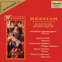 Handel: Messiah (On Period Instruments) (Highlights) by Boston Baroque (1993-10-26)