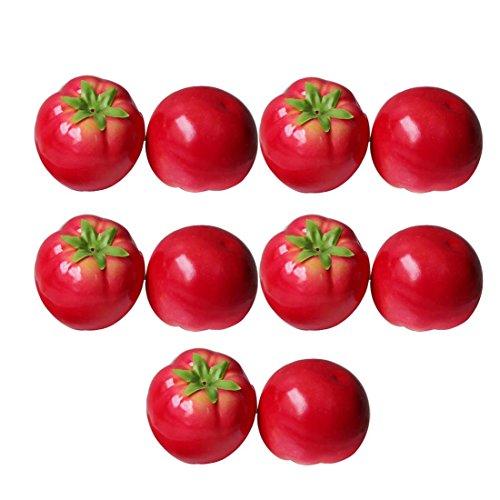 Lorigun Künstliche Tomaten Simulation Gefälschte Gemüse Foto Requisiten Home Dekoration X 10 Stücke