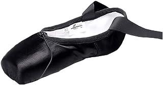Enfants Filles Femmes Toile Chaussons de Ballet Classique - Souple Split-Sole Plate Ballet Shoes des Rubans Chaussures de ...