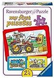 Ravensburger Kinderpuzzle - 06573 Bagger, Traktor und Kipplader - my first puzzle mit 3x6 Teilen - Puzzle für Kinder ab 2,5 Jahren