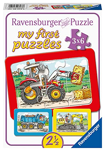 Ravensburger Kinderpuzzle - 06573 Bagger, Traktor und Kipplader - my first...