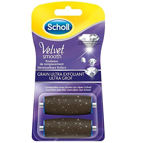 Scholl Velvet Smooth Ersatzrolle für elektrische Reibe, 2 Stück, (1er Pack)