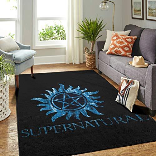 Youturnnow Alfombra de lujo Supernatural para dormitorio o puerta de habitación infantil, color blanco, 122 x 183 cm