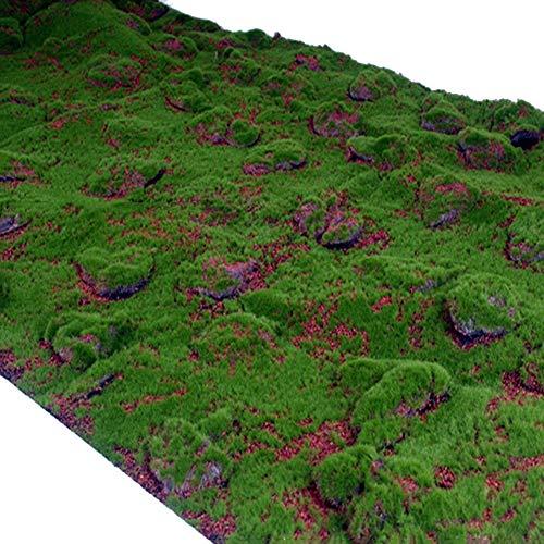 WENZHE Artificial Planta Vid Hiedra Colgante Hojas Musgo Interior Al Aire Libre Simulación Pared De Fondo Casa Balcón Adornos Colgantes, 1 × 1m (Color : 1x1m, Tamaño : 1 Piece)