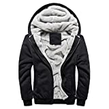 MRULIC Herren Hoodie Pullover Winter Warme Fleece...