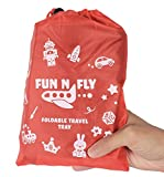 Fun N' Fly Foldable Travel Tray - Blue Red Portable Durable Kids, Toddler, Baby Play Space and Snack...