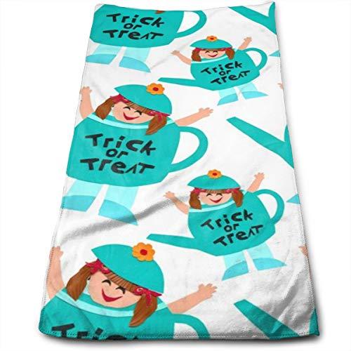 Halloween Meisje In Kostuum Originele Haar Handdoek Ultra Absorbens & Snel Drogen Microvezel Handdoek Voor Fijn & Delicaat Haar (11.8 X 27.5 Inch)