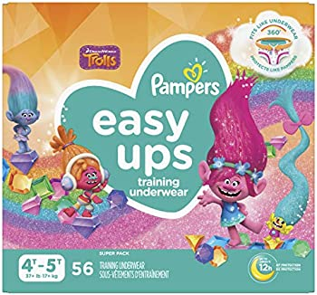 56-Count Pampers Easy Ups Training Pants Girls and Boys, Size 6