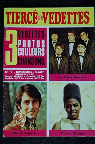 Le tiercé des Vedettes n°18 1968 11 Gipsy Sanders Michel Delpech Miriam Makeba
