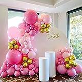 Palloncini Kit Ghirlanda Rosa , AcnA kit Arco Palloncini compleanno, 103 Pezzi Palloncini Lattice Per Matrimonio,Ragazza Signora Decorazione Compleanno per Feste,Anniversario Riutilizzabile