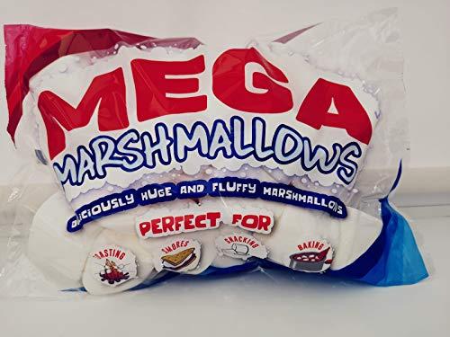 Mega Marshmallows – Extra Large – 600 grammi – Perfetto per barbecue, arrosti di falò, cottura, smores e spuntini.