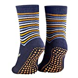 Piarini 2 Paar Kinder Stoppersocken ABS Socken Anti Rutschsocken Noppen Baumwolle Jungen Mädchen Blau Gr. 31 32 33 34